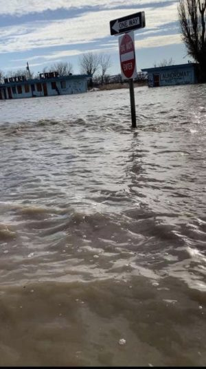 Flooding near Crow Agency, MT. Photo courtesy of Daisy Delaney.