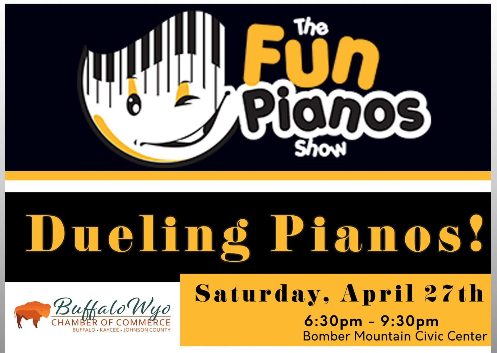 Dueling Pianos Returns Saturday at Bomber Mtn  Center | | Big Horn